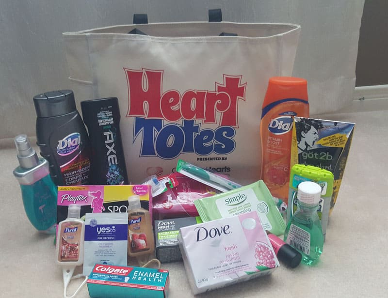 Heart Tote Contents